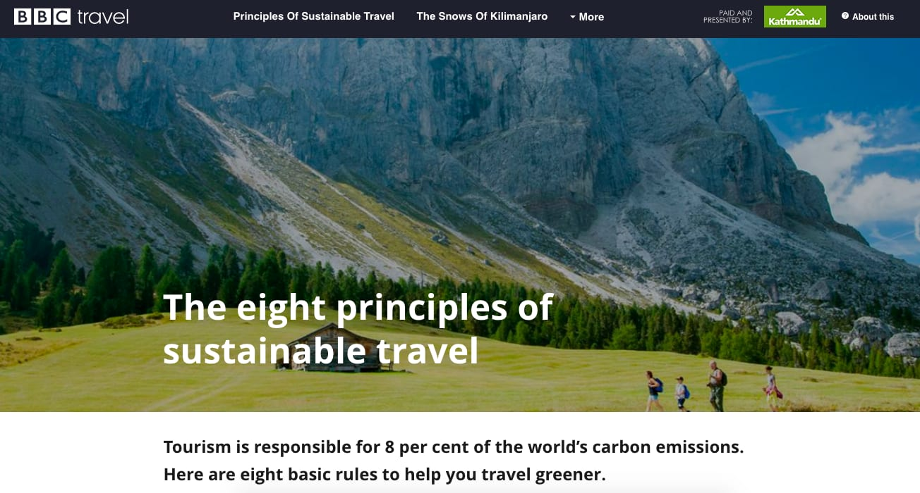 The Eight Principles of Sustainable Travel