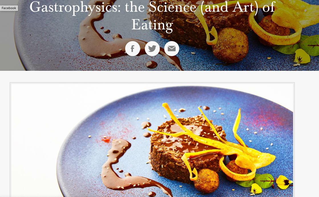Gastrophysics: the Science and Art of Eating