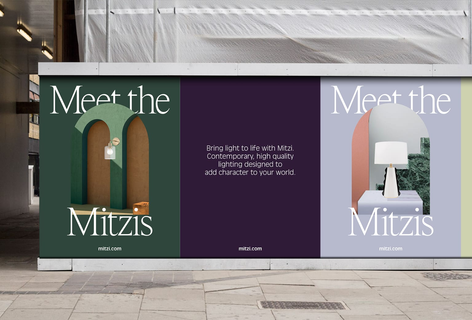 Retail and Campaign Concept for Mitzi Lighting
