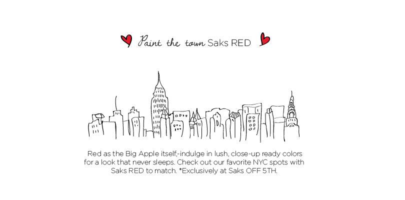 SAKS FIFTH AVENUE OFF 5TH SOCAIL RED 'NYC' BEAUTY FACEBOOK LOOKBOOK