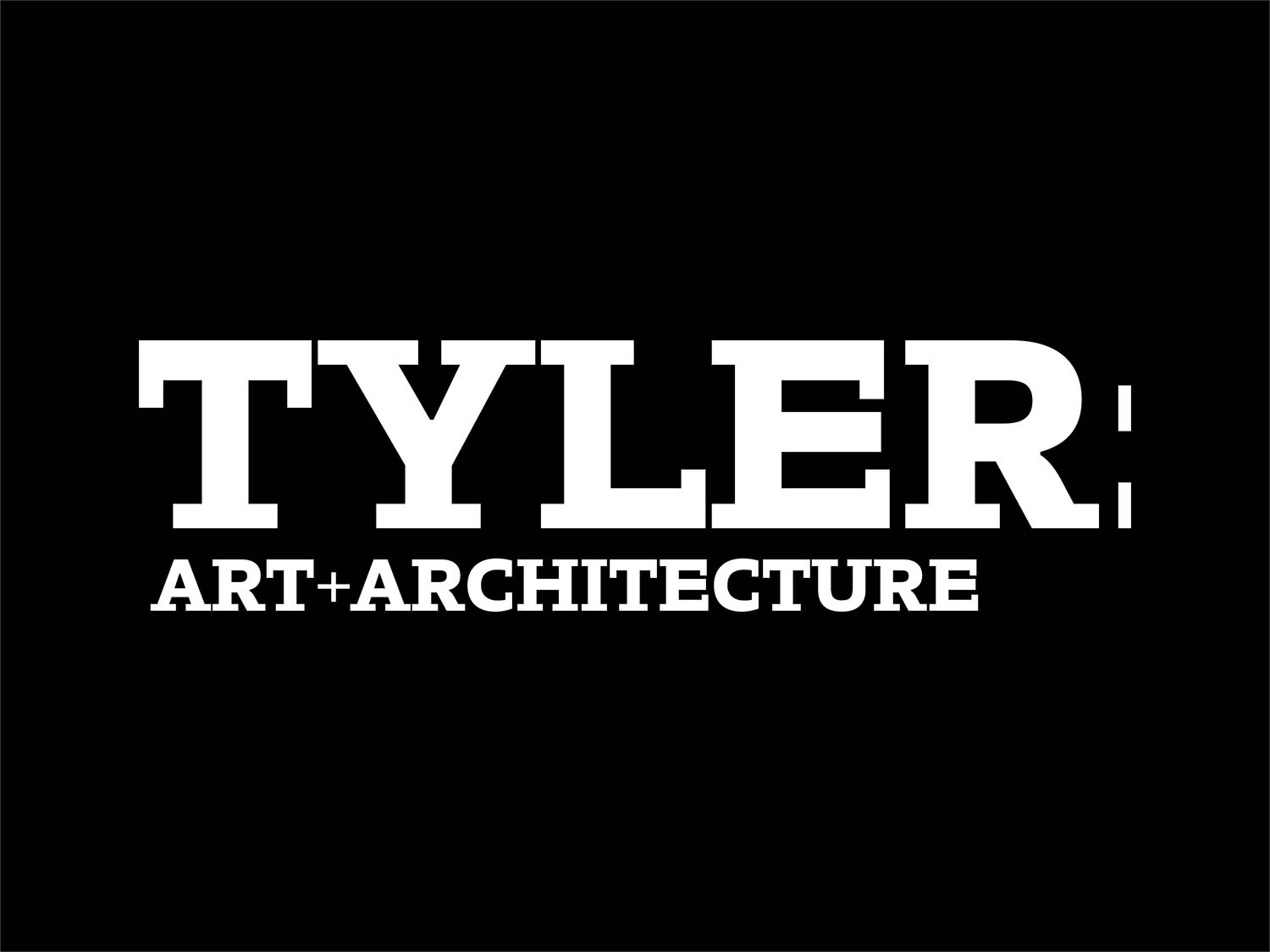 Tyler School of Art and Architecture Identity