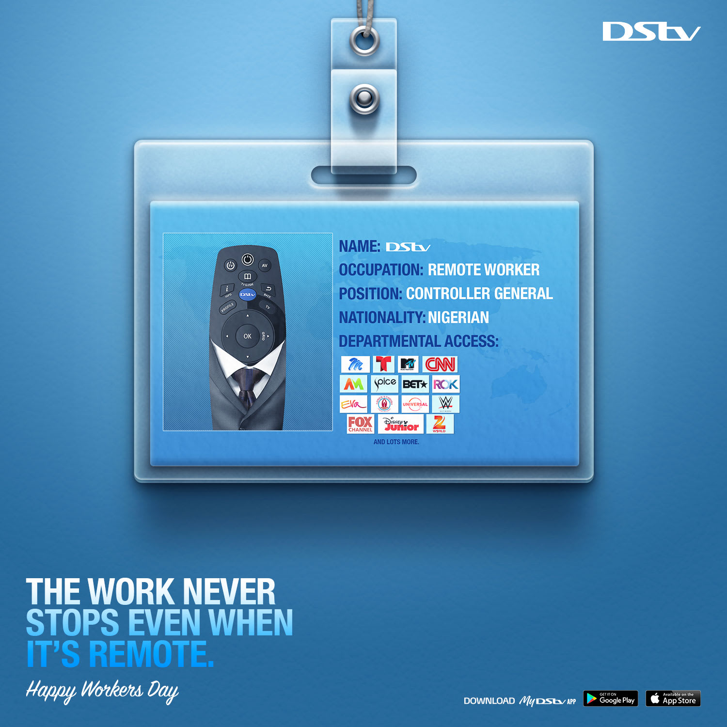 DStv Worker's Day Ad