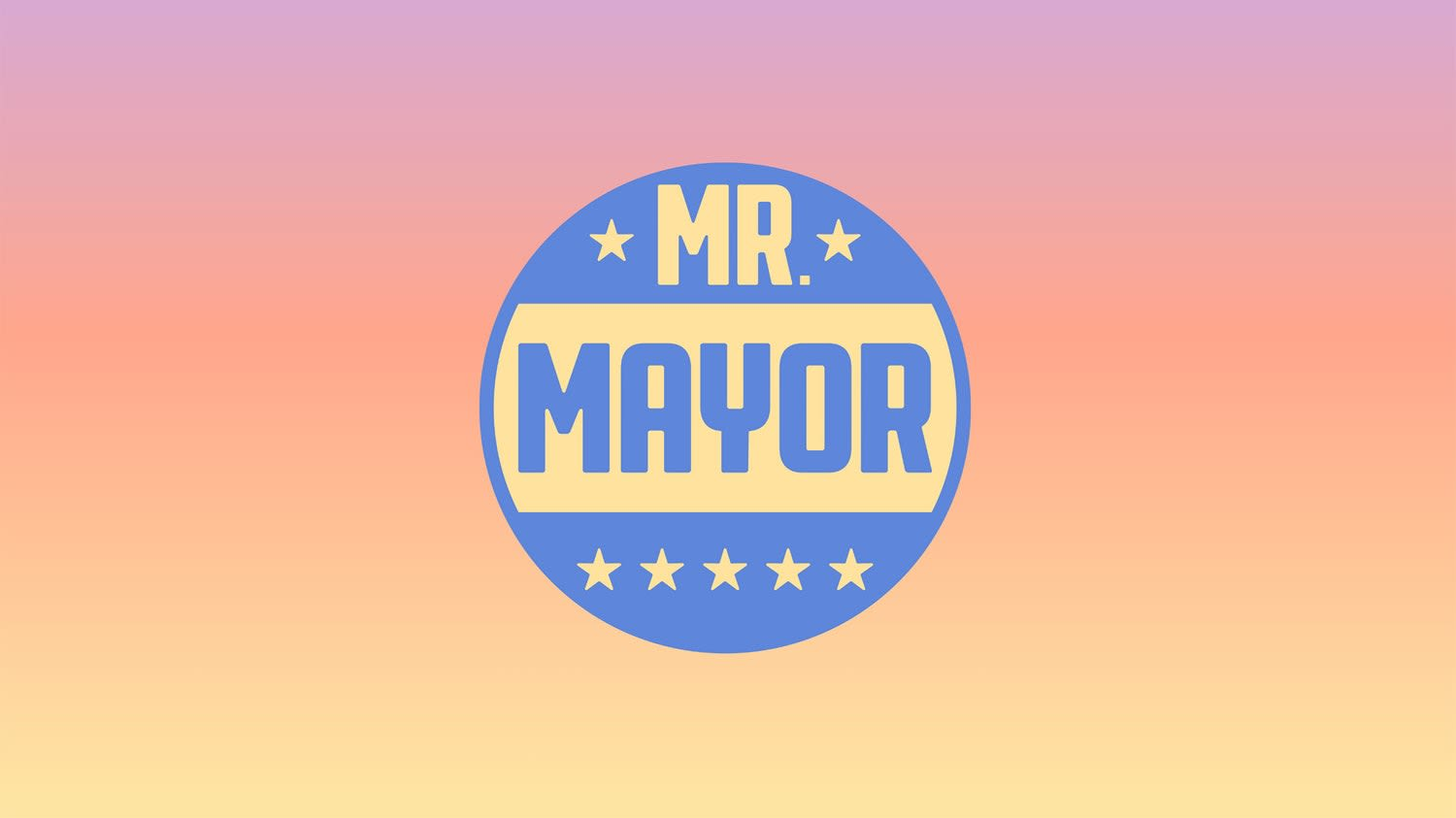 Mr. Mayor Identity and Opening Titles done at Pentagram