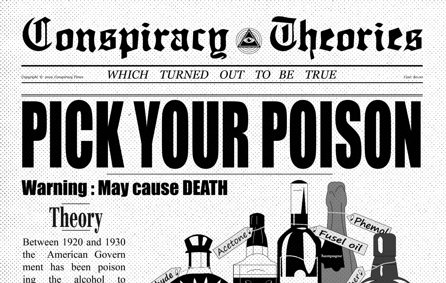 Infographic about conspiracy theories