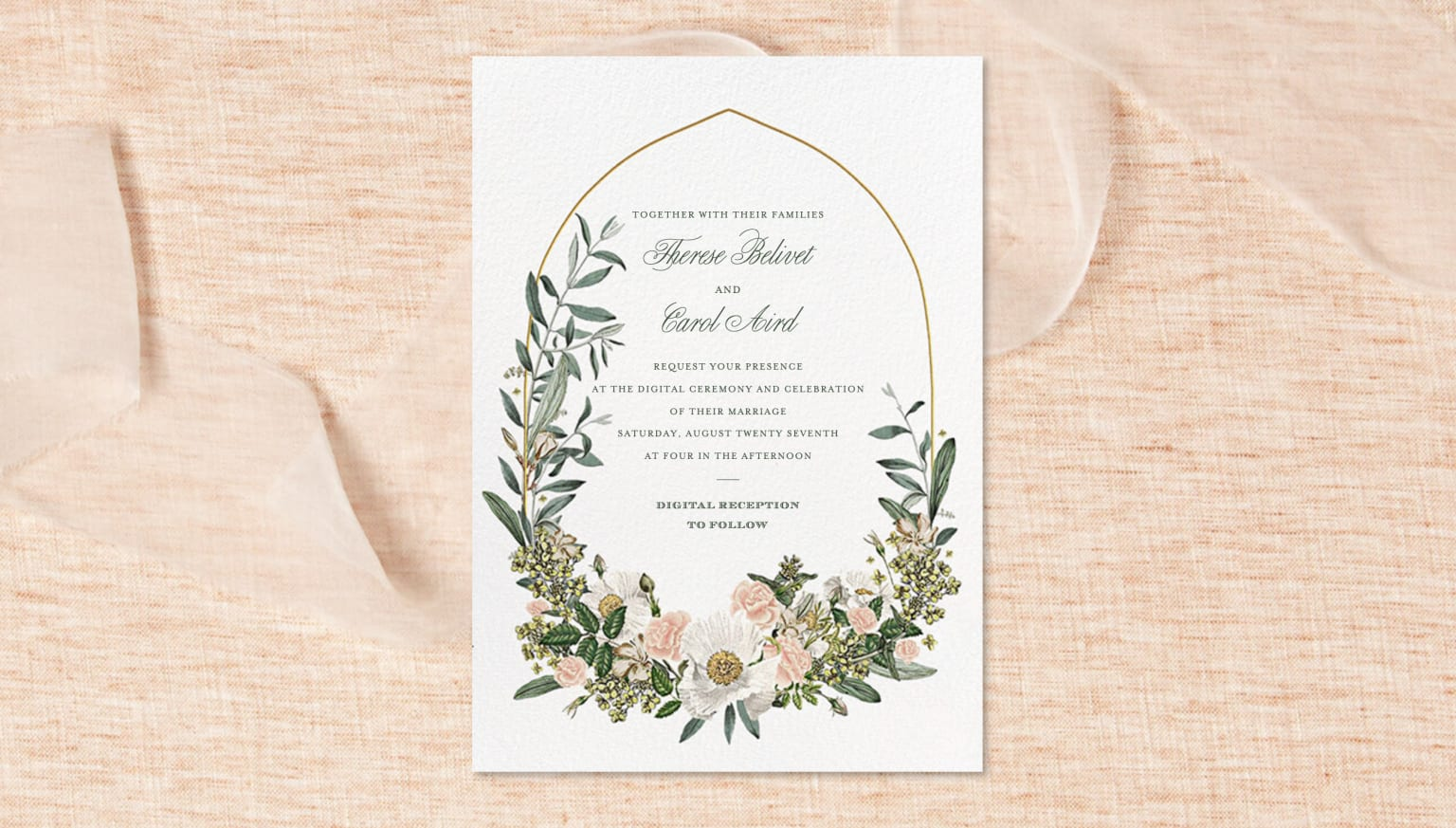 Wedding Backgrounds @ Paperless Post
