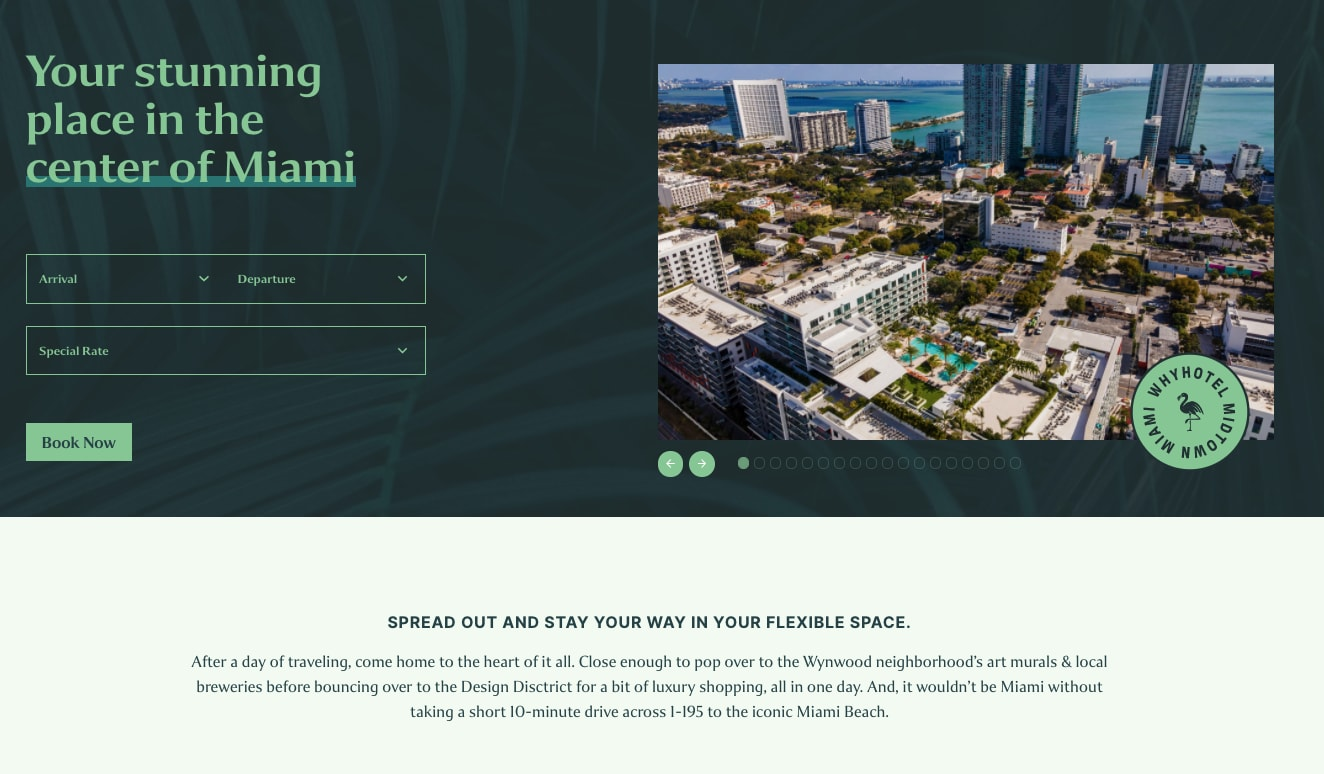 Landing Page Redesign - Hospitality