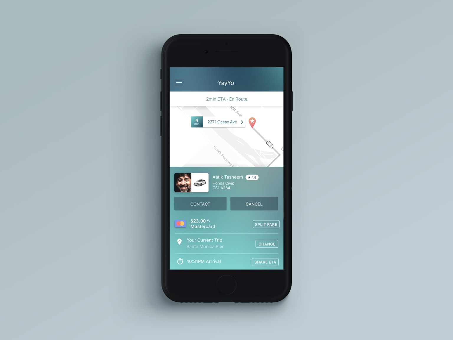 Ride Sharing App—iOS & Android