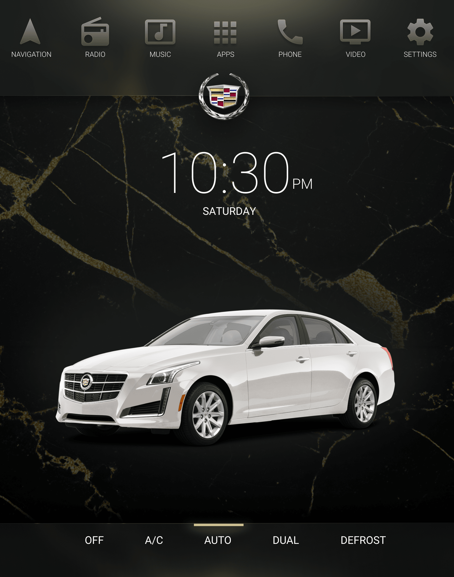 Cadillac Infotainment System—Concept