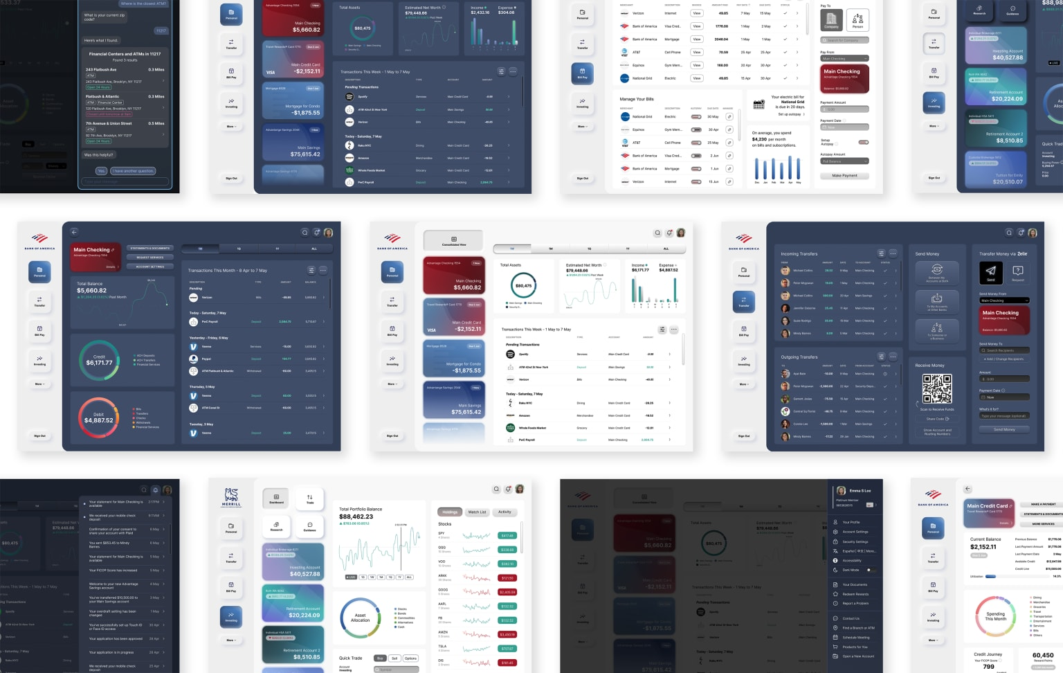 Redesigning the Bank of America Website