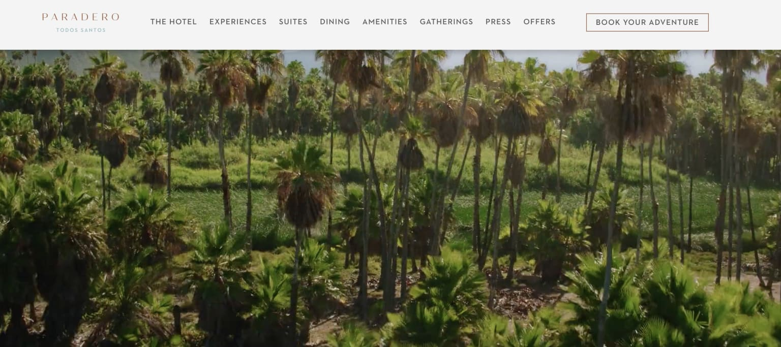 Writing all Website Copy for Paradero Hotels