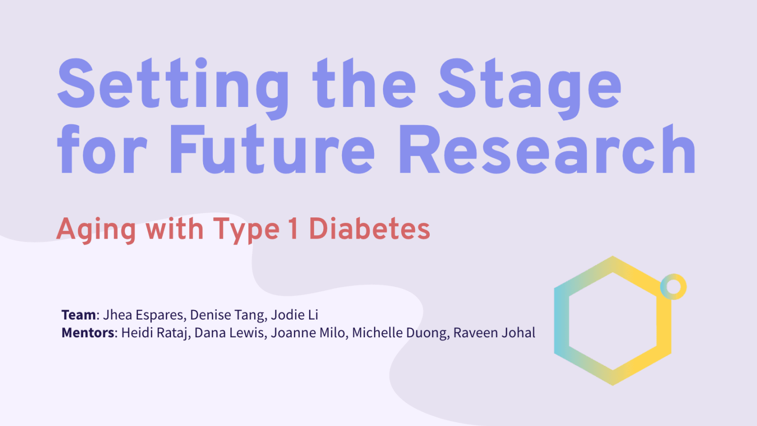 Setting the Stage for Future Research on Type 1 Diabetes & Aging