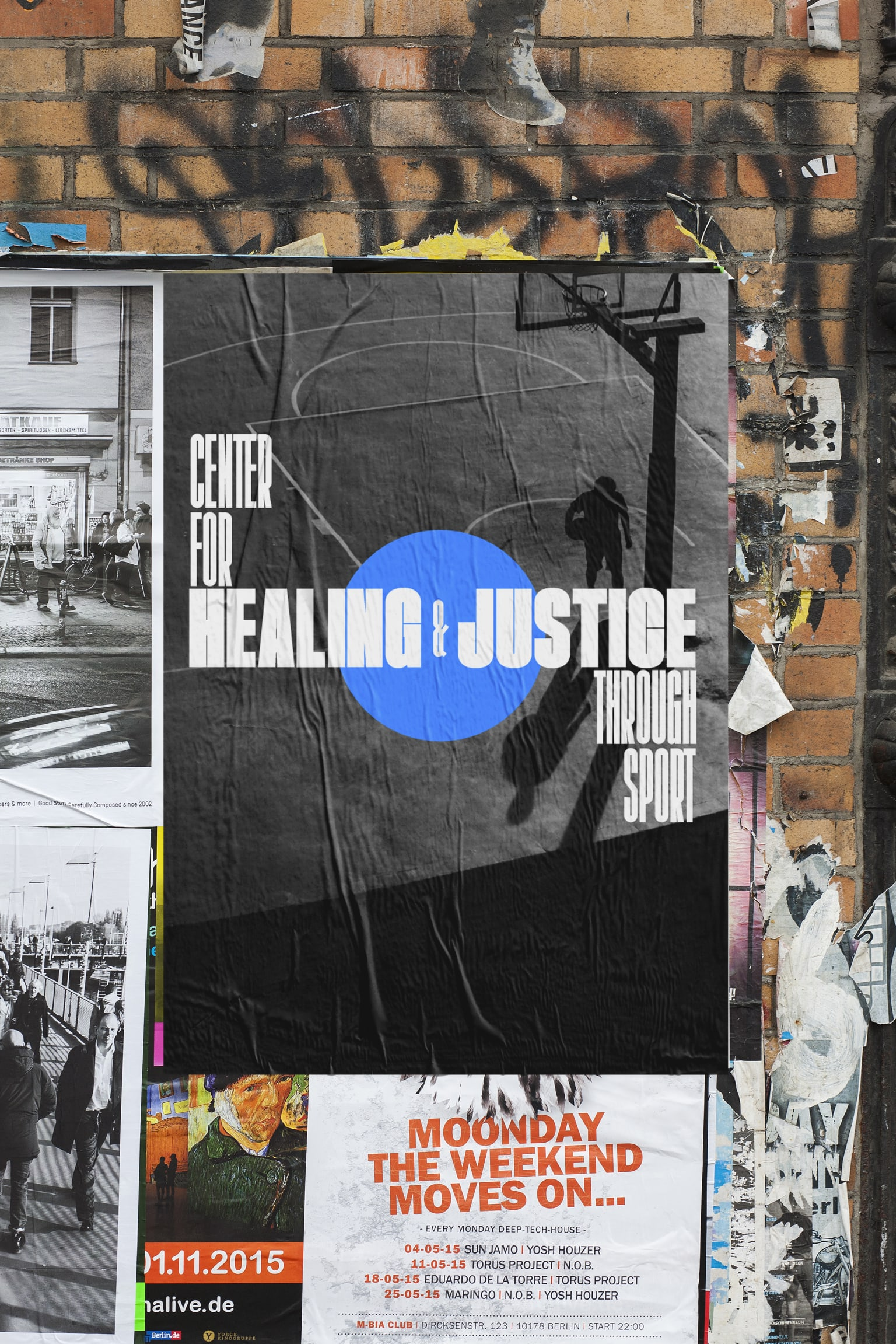 Center for Healing & Justice Through Sport typographic explorations