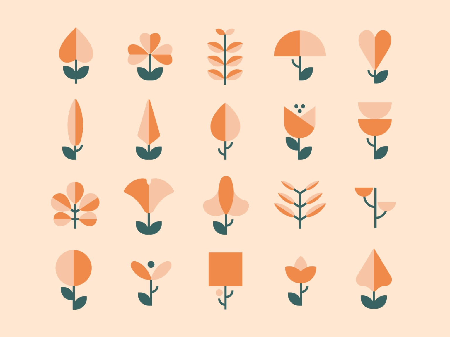 Abstract Plants and Flowers