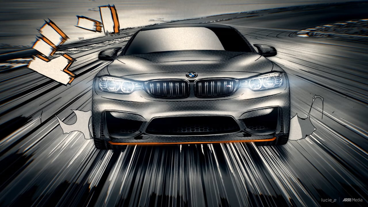 BMW M4 GTS Manga