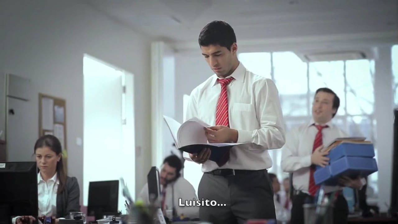 Luis Suarez at the Office