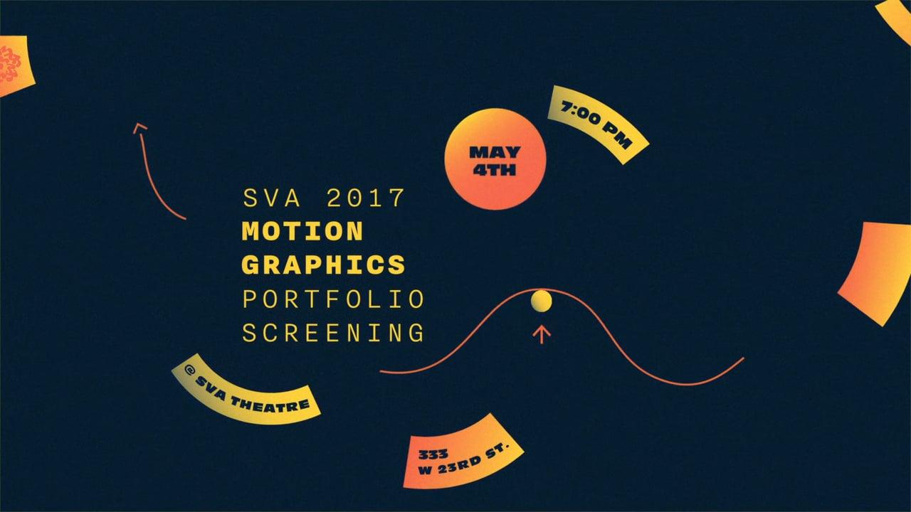 2017 SVA Motion Portfolio Screening Invite