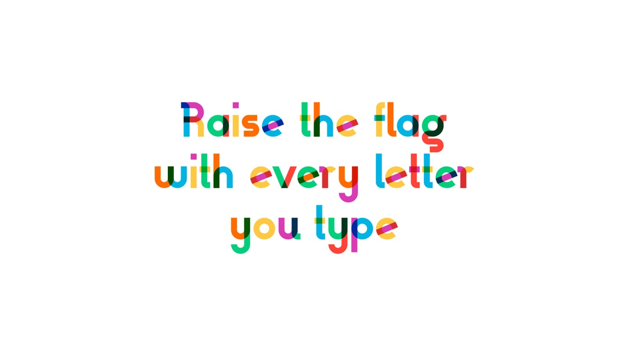 Type With Pride - Animated Typeface