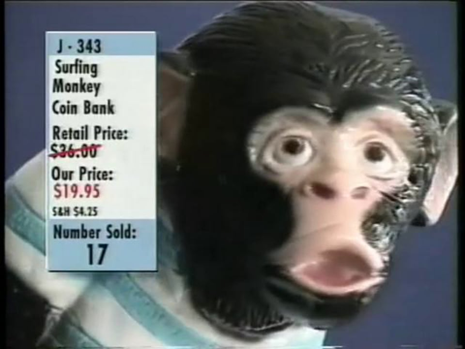 """Partnership For A Drug-Free America """"Surfing Monkey"""""""