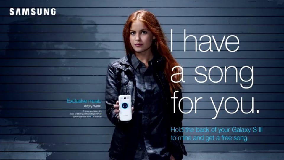 I have a Song for You. Samsung NFC Posters & Interactive Kiosks.