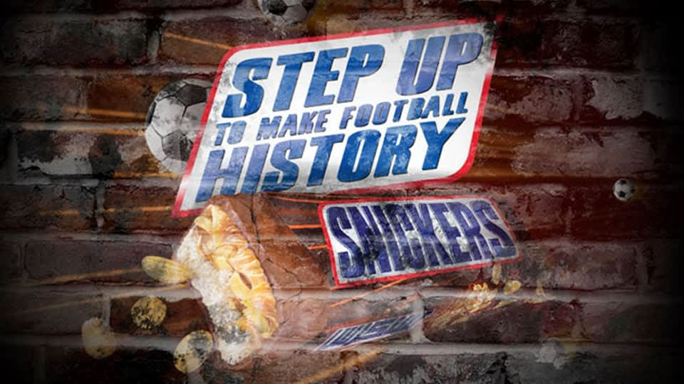 """Snickers """"Step up to Make Football History"""""""