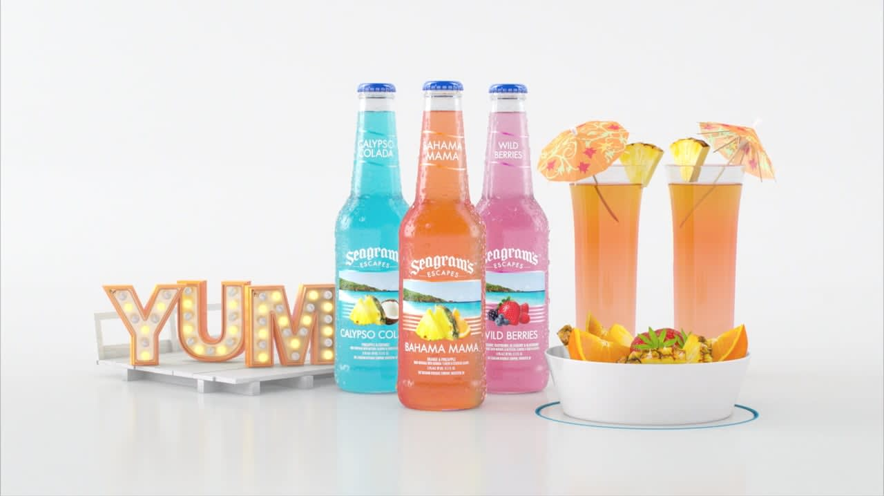 """Seagram's Escapes """"Keep It Colorful"""" campaign"""