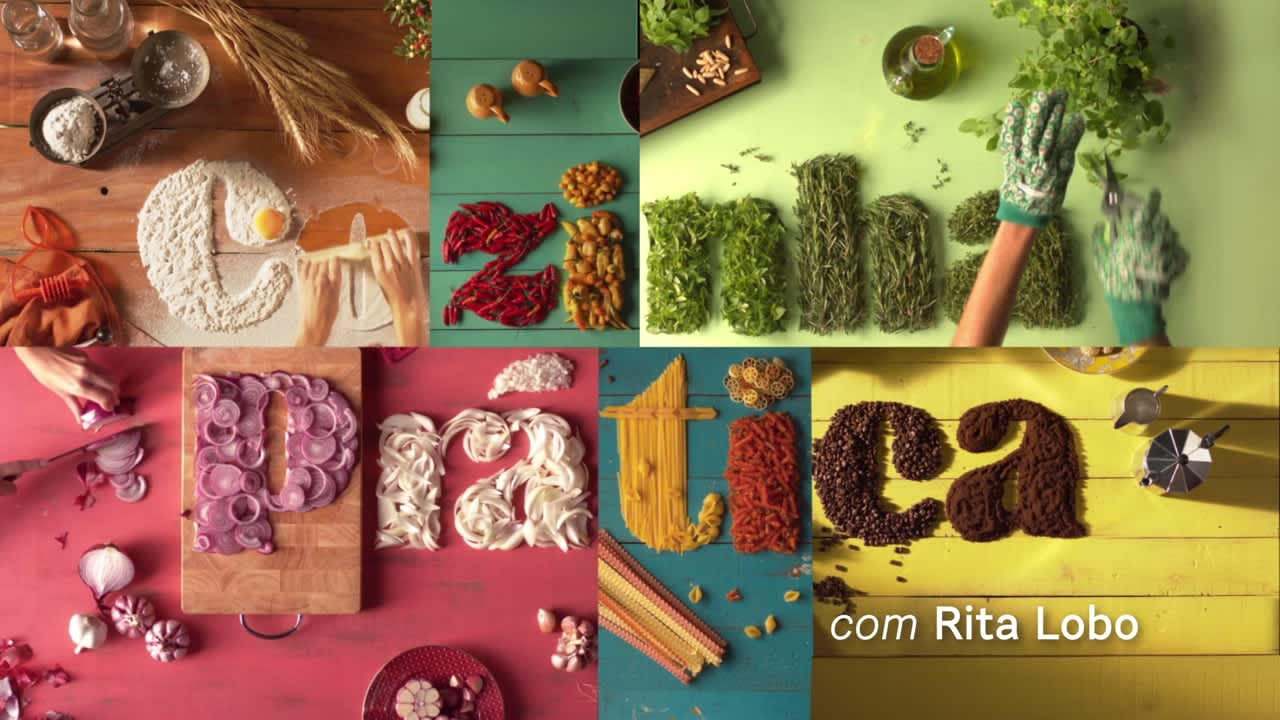 "Opening titles for Cooking Show ""Cozinha Prática"""