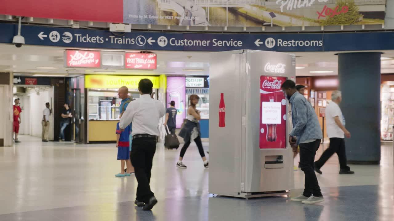 JetBlue Share a Coke at Penn Station
