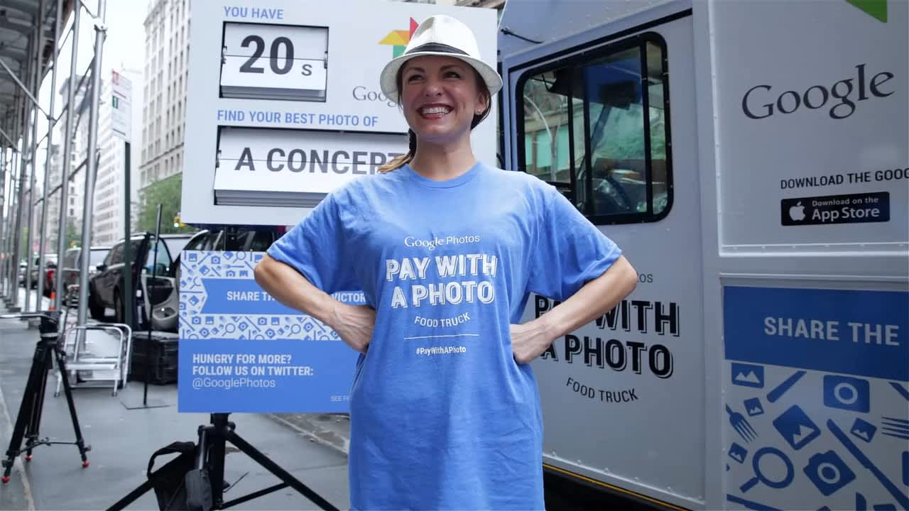 Google Photos Pay With a Photo Food Truck