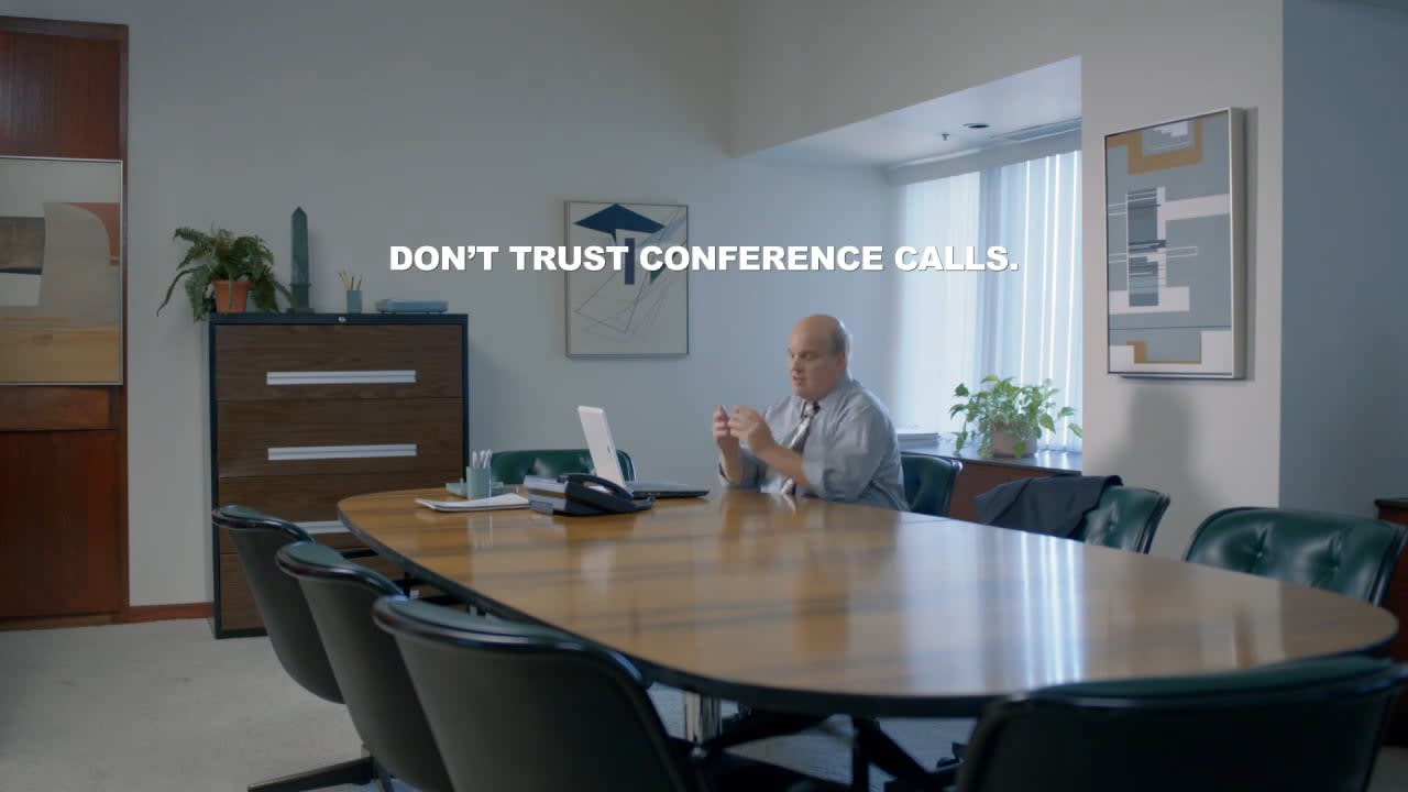 Never trust conference calls. Love Acela.