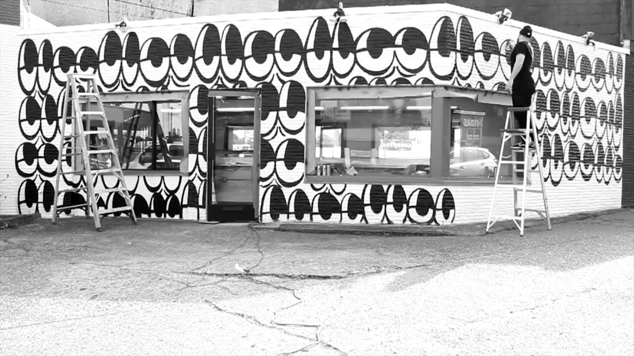 Rudy's Barbershop Mural
