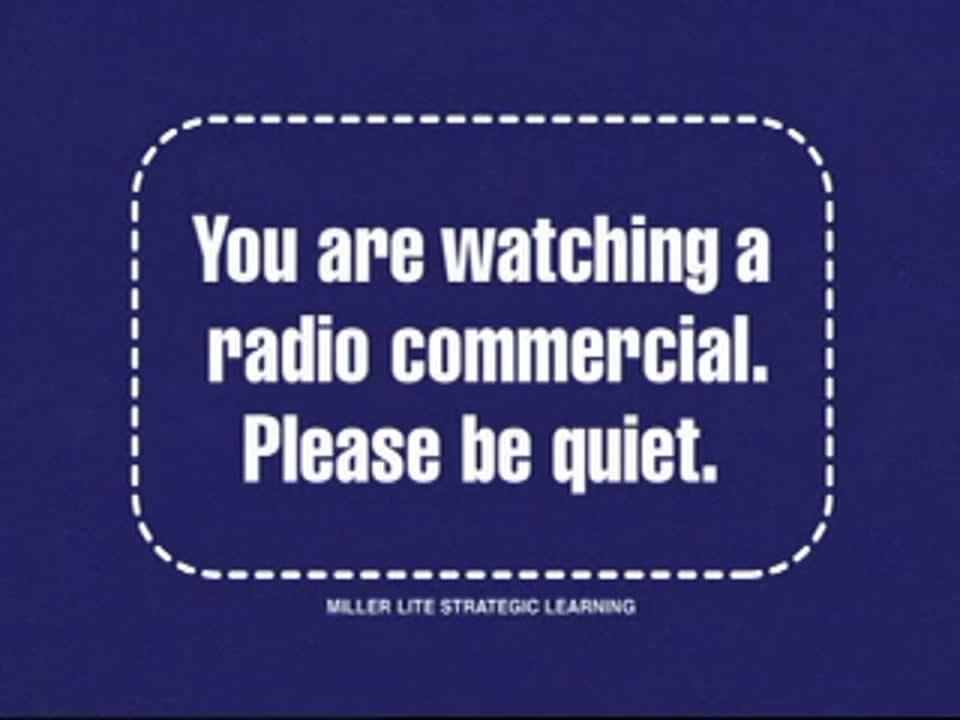Miller Lite Experimental Television