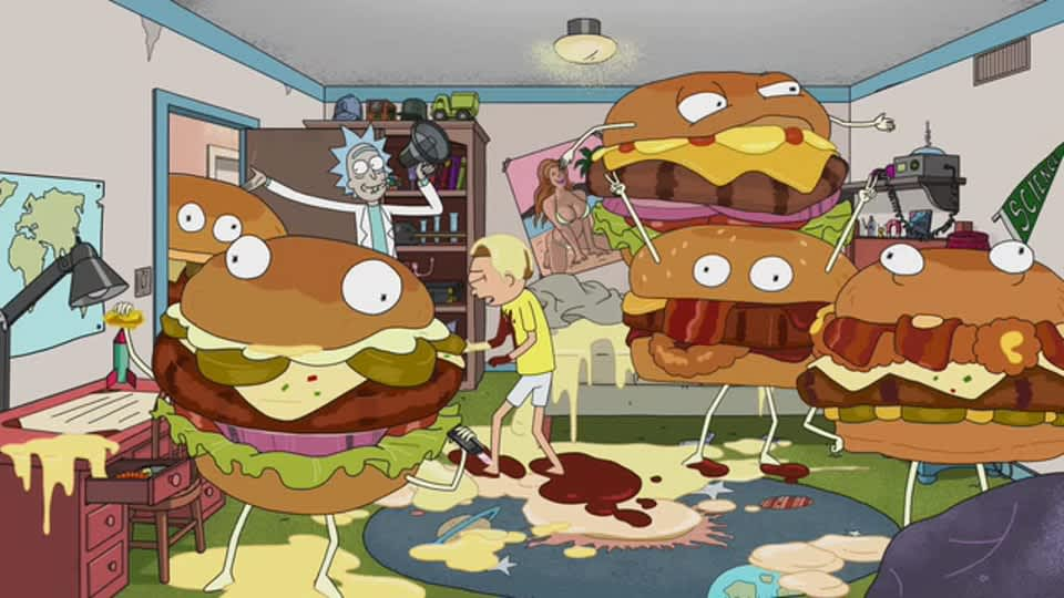 Rick and Morty Thickburger Invasion