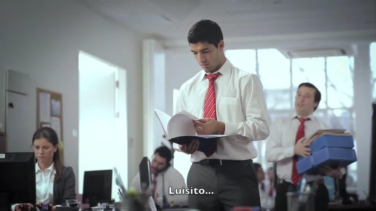 Luis Suarez at the Office