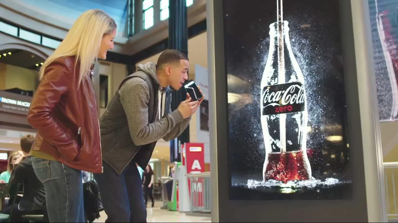 Coke Zero - Drinkable Advertising