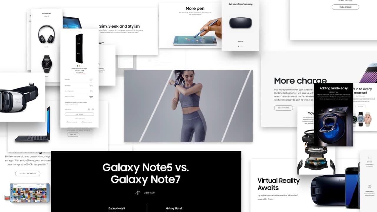 Samsung: Site Redesign