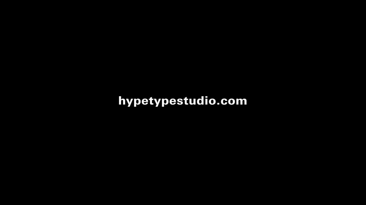 Hype Type Showreel