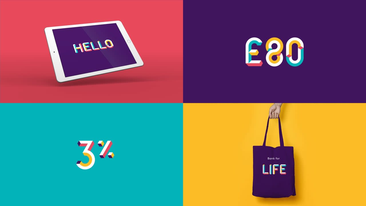 Animated typeface for NatWest Bank
