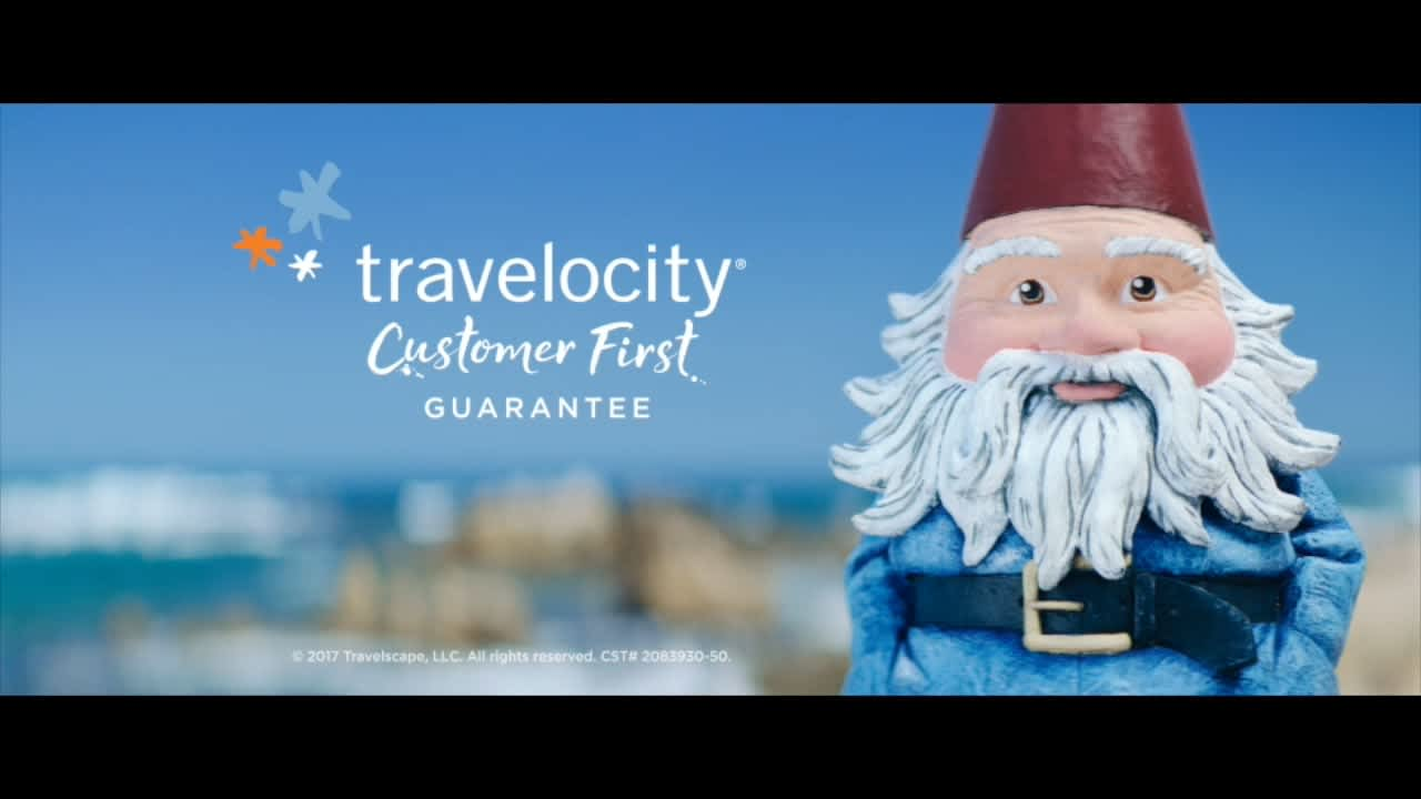 "Travelocity ""Drama free travel"""