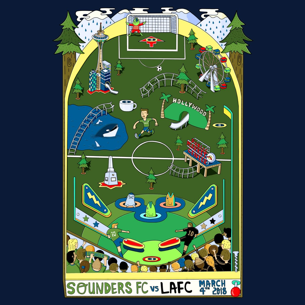 Seattle Sounders FC Official Matchday Poster