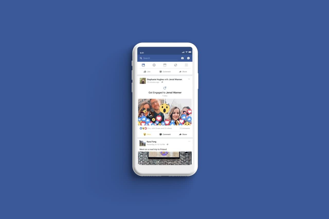 Facebook - Major Life Event Reactions