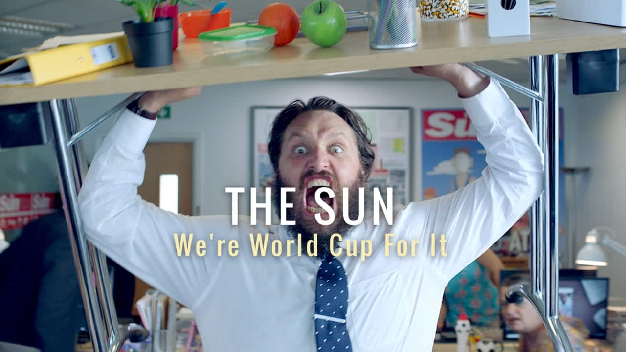 """THE SUN """"We're World Cup For It"""""""