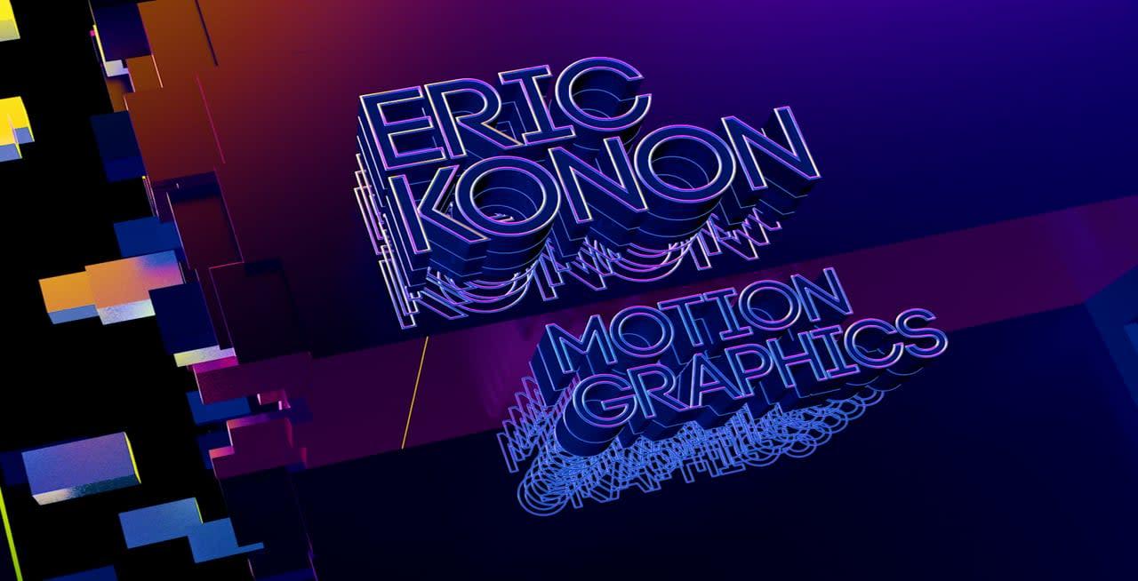 Eric Konon's motion design showreel
