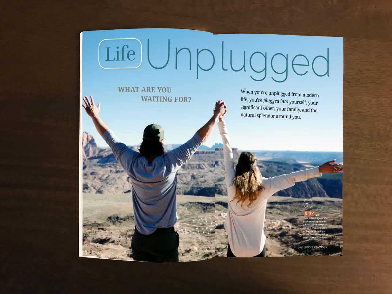 Under Canvas #Magazine #Promotion / #Marketing