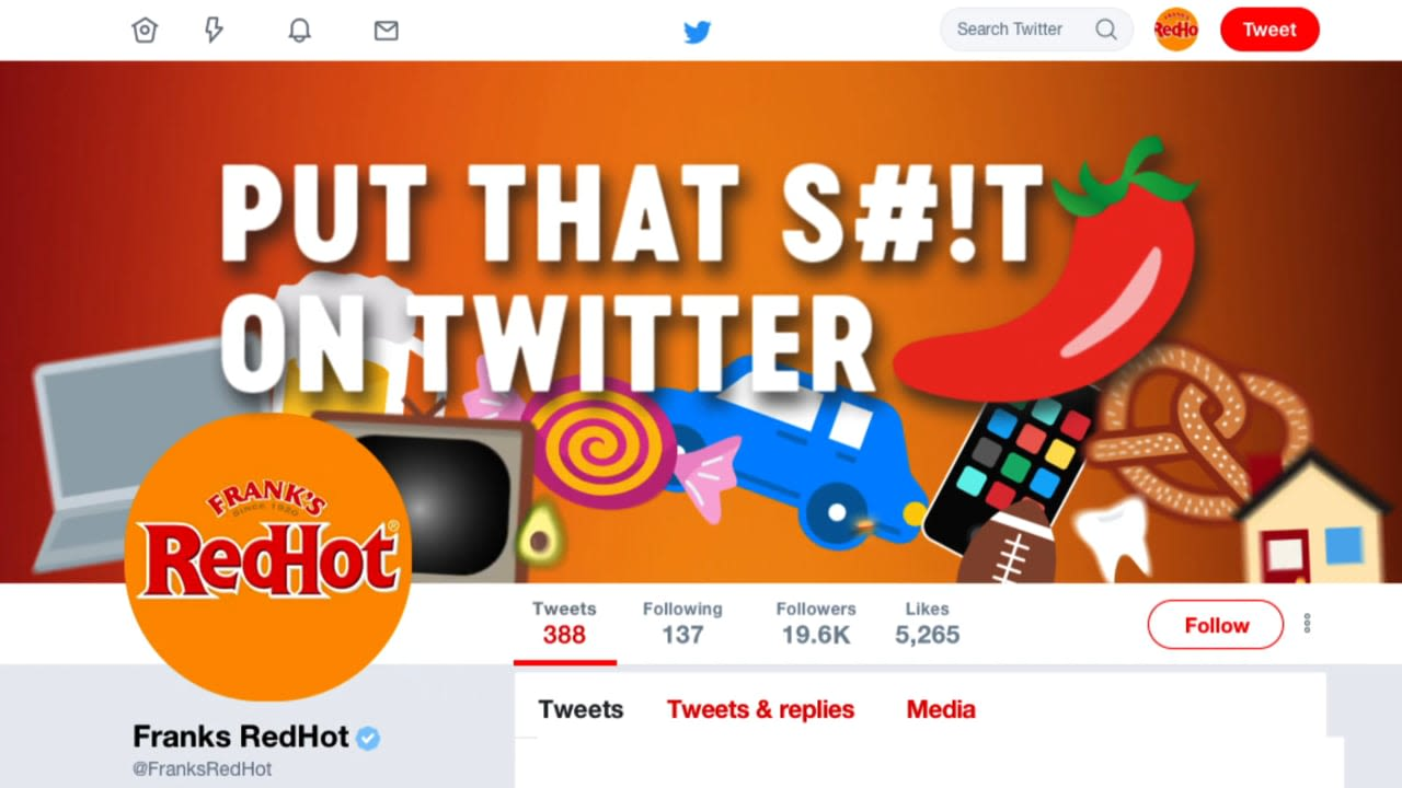 Frank's RedHot   Put That S#!t on Twitter