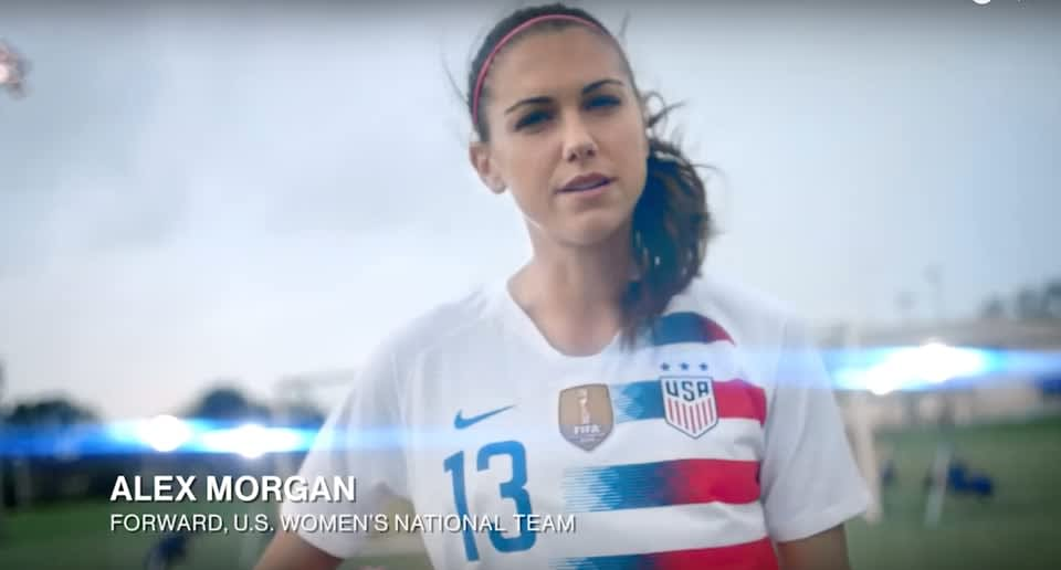 "Alex Morgan + Secret ""Cheer for Each Other"""