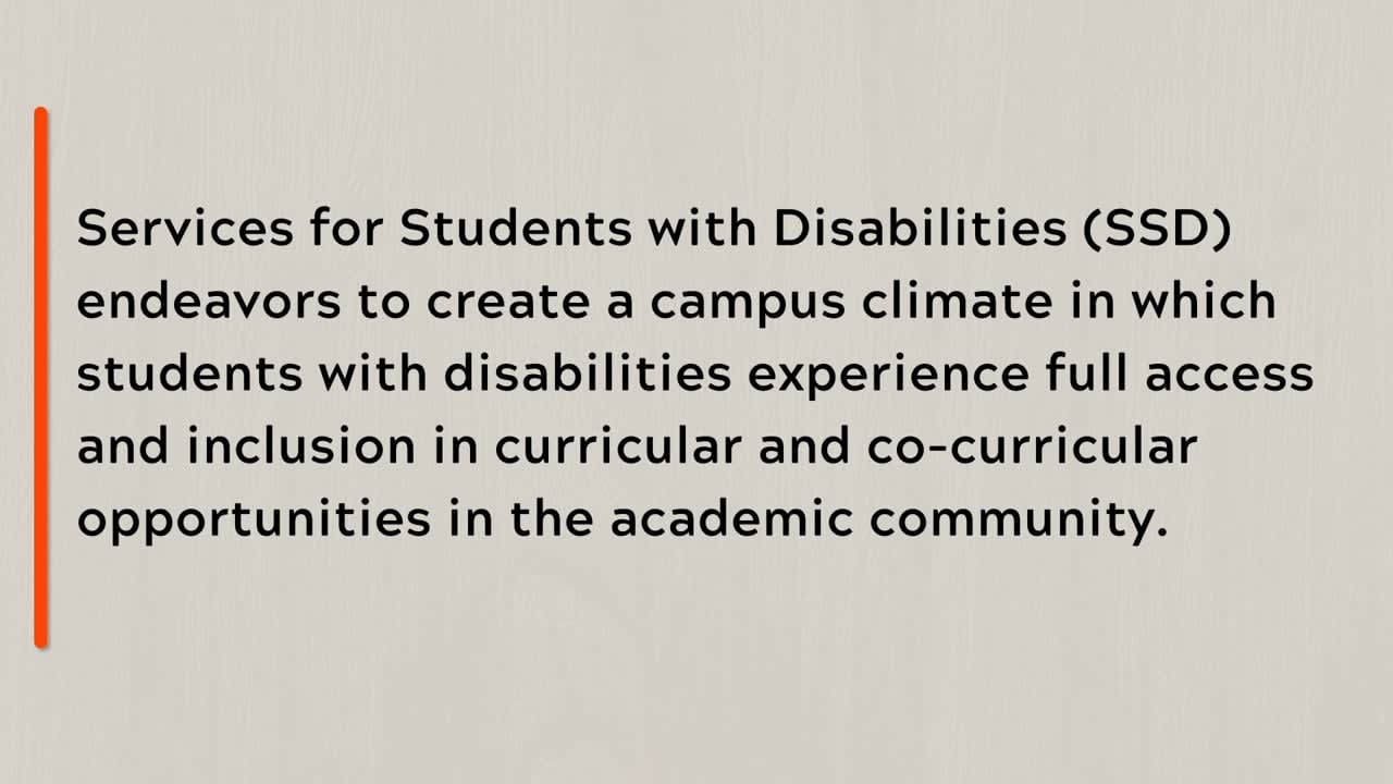 Virginia Tech Services for Students with Disabilities - C-Print