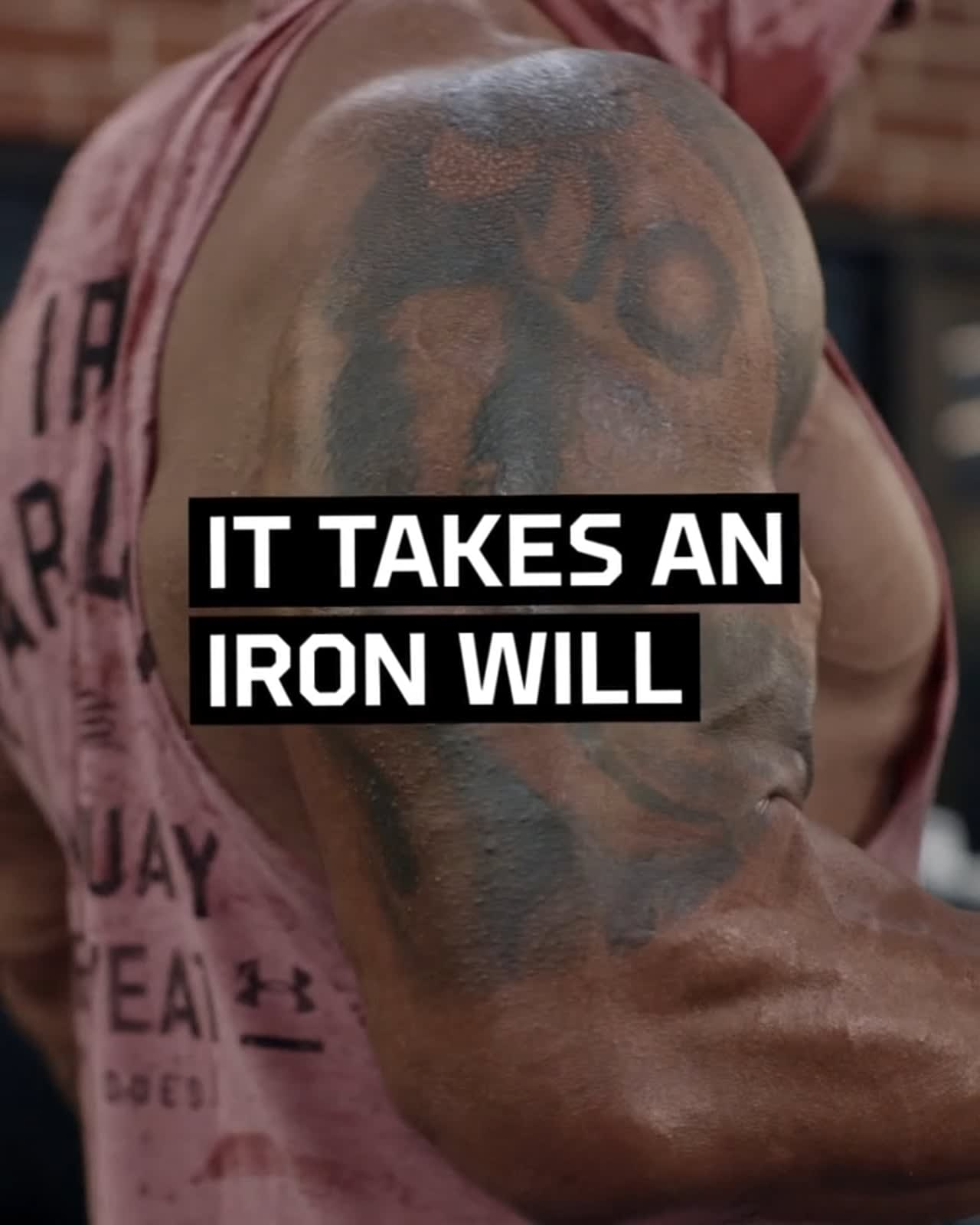 "Project Rock ""It Takes An Iron Will"""