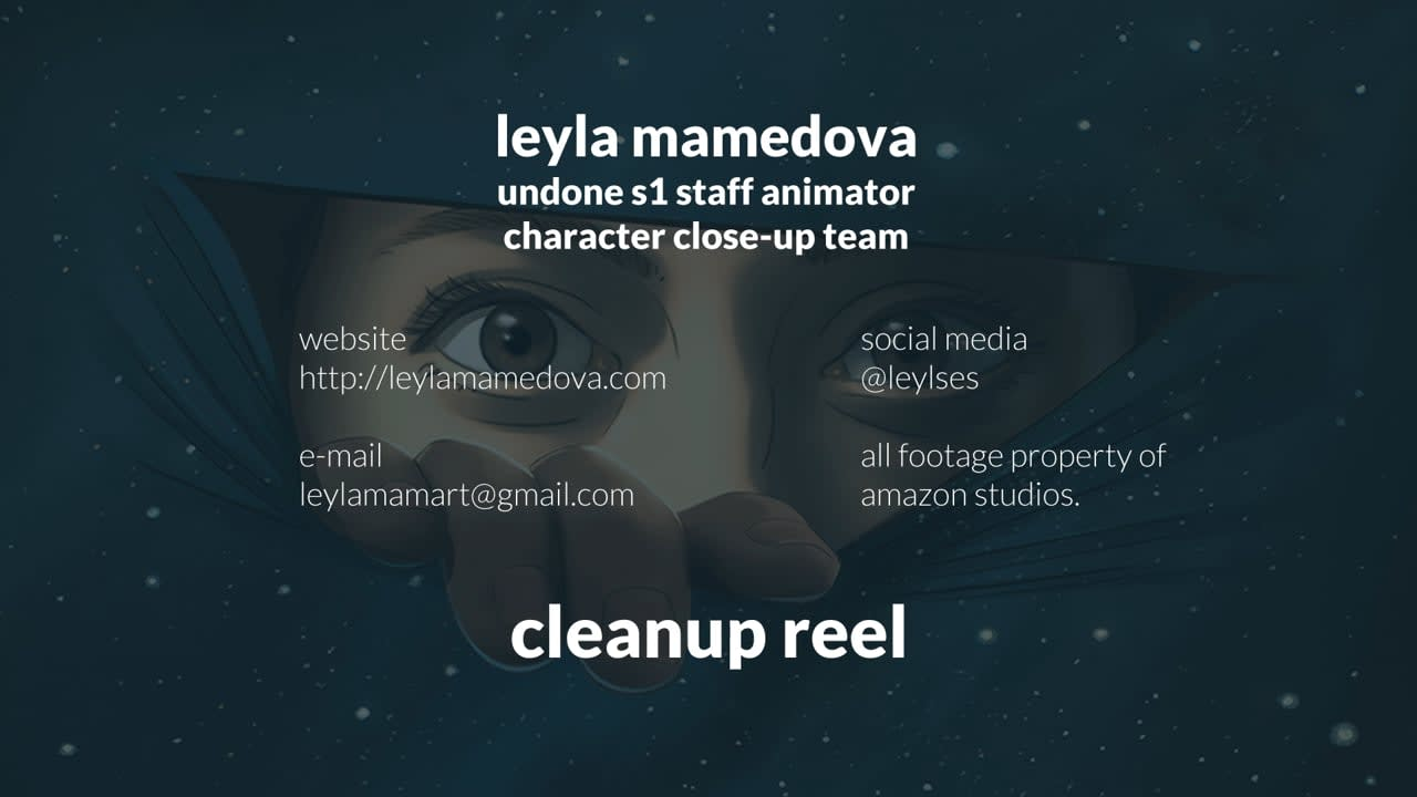 rotoscope cleanup reel