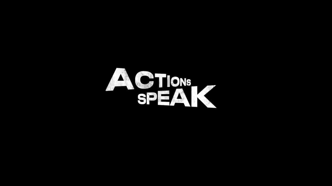 """Adidas' """"Actions Speak"""""""