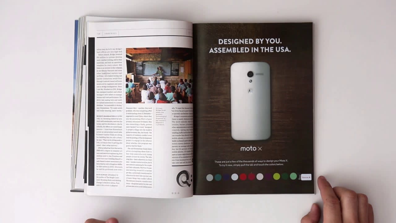 Motorola MOTO-X Interactive Ink - Wired Magazine